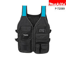 Makita Carpenter Electrician Construction Utility Hand Tool Vest Mens Work Wear
