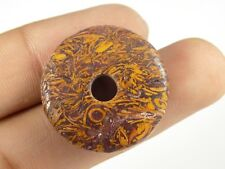 Mariam Jasper Donut Big Hole Coin Beads Pendant Beads 12mm-25mm 2 Piece #DB-231