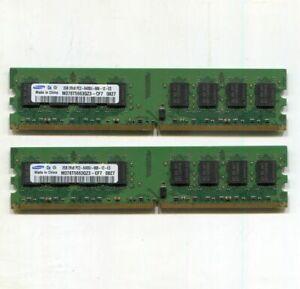 4GB (2 x 2GB) Samsung M378T5663QZ3-CF7 DDR2 800 desktop DIMMS, PC2-6400U