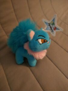 """2004 Neopets McDonald's Blue Wocky With Tag. 4"""". Rare Plush Toy"""