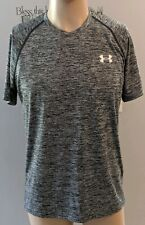 Under Armour Heat Gear Gray Heather Athletic S/S Compression Shirt Mens Sz S