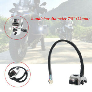"""7/8"""" 22MM Motorcycle Handlebar Horn Button Light Controller Switch Durable New"""