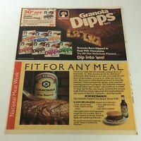 VTG Retro 1985 Quaker Granola Bar Dipps & Kikkoman Soy Sauce Print Ad Coupon