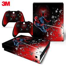 Xbox One X Console Skin Decal Sticker Spider-Man SuperHero Custom Design Set