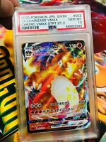 Pokemon PSA 10 Japanese Sword & Shield Charizard Vmax Full Art 002/021 Full Art