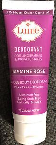 MINI SIZE Lume Jasmine Rose Deodorant Tube