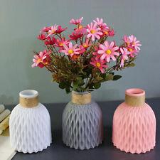 New Origami Plastic Vase White Imitation Ceramic Flower Pot Flower Basket