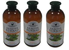 Kräuterbad Melisse 3x 500ml Badezusatz Wellness Entspannung Schaumbad Ölbad Kur