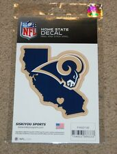 LOS ANGELES RAMS NFL FOOTBALL SPORTS HOME STATE SMALL DECAL