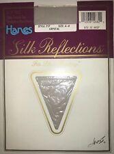 Hanes 717 Ultra Silk Reflections Pantyhose Control Top Sandalfoot Crystal Sz AB