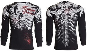 Xtreme Couture Affliction Men's Long Sleeve THERMAL T-shirt PERSIMMON Biker S-3X
