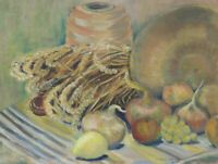 Ishbel Searl - Contemporary Oil, Still Life with Onions
