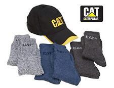 CATERPILLAR Black Yellow CAT HAT & SOCKS COMBO SET *6 Pairs + Cotton Canvas CAP
