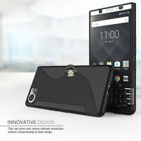 Black S-Line TPU Soft Silicone Case Cover Cover For BlackBerry KeyOne