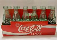 RARE 1986 VINTAGE COCA COLA 12 PACK OF 6.5 OZ BOTTLES WITH CARDBOARD CARRIER