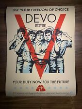 Shepard Fairey Obey Giant DEVO VOTE! Art Print Poster Signed By The Band XX/575