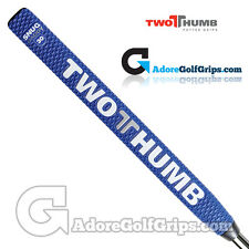 2 Thumb Snug Daddy 30 Midsize Putter Grip - Blue / White / Silver + Free Tape