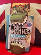 Teeth-Marks Bookmark T-Rex. Dynamic Fun Bookmark. Gift, Brand New