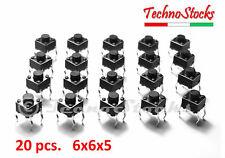 20x Pulsanti PCB 6x6x9 mm Circuito Stampato Tactile Push Button Switch PCB