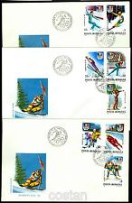 1992 Albertville Olympics,Ice hockey,Bobsled,Luge,Biathlon,Romania,Mi.4761,FDC