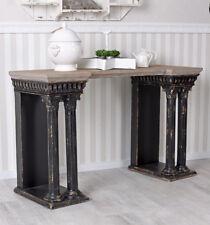 Table de mur Ancien Console colonnes shabby chic