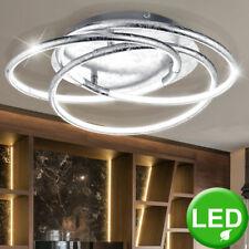 Luxus LED ALU Decken Leuchten Ring Beleuchtung blatt gold silber Chrom Lampen