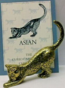 A FRANKLIN MINT CURIO CABINET CAT COLLECTION FIGURINE THE --ASIAN-- NO CERTIFICA