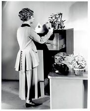 1969 Original Photo fashion model in 1910-1920's Women Office Working Outfit