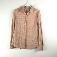 J.Crew Perfect Shirt Womens Sz 4 Long Sleeve Button Up Blouse Small Top