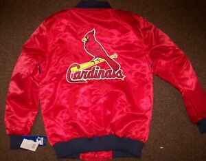 ST. LOUIS CARDINALS MLB STARTER Full Zip Jacket Sping/Summer RED