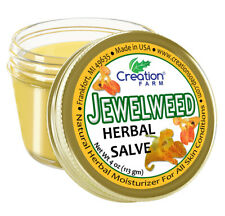 Jewelweed Herbal Salve Jar 4 OZ - Poison Ivy comfort Salve on itchy sting | Herb