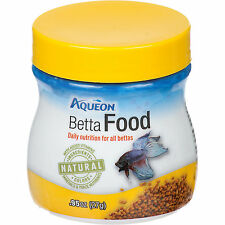 Aqueon Betta Food Premium Natural Ingredients Healthy Energetic Balance .95 Oz