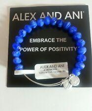 Alex and Ani Sunburst Cerulean Russian Silver Bangle Bracelet W/Tag Card & Box