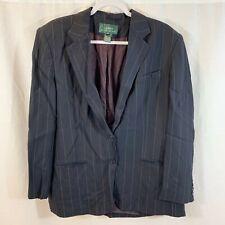 Lauren Ralph Lauren Blazer Jacket Coat Pinstripe Navy Womens 16 USA