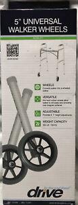 """Drive 5"""" Universal Walker Wheels Versatile Adjustable"""