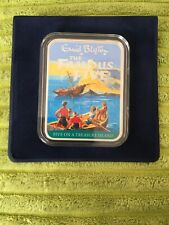 Limited Edition Famous Five On Treasure Island Silver Plated Ingot Book Cover