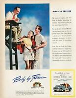 1946 Body by Fisher on GM Cars Print Ad Place in the Sun Tennis Theme