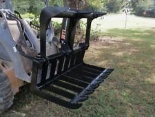 MTL Attachments Compact Tractor Skid Steer 48 Root Rake Grapple Bucket-Free Ship
