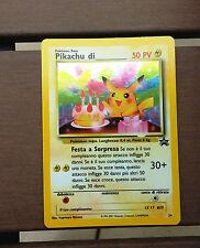Pokemon Black Star Promo BIRTHDAY PIKACHU #24 Italian  - MINT
