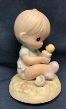 Precious Moment Figurine 272469 I Believe In Miracles 1996 Chick Egg Birth Hatch
