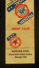 1940s Federal Match Mercer Fuel Mercer Coal Texaco Colonial Anthracite Coke MB