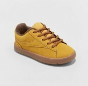 New Cat & Jack Asher Casual Sneakers Mustard Toddler Boys Shoe Sizes 4 5 7 9