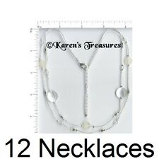 Wholesale Lots Necklaces Fashion Jewelry Silver Plated Costume NEW SALE 2-strand
