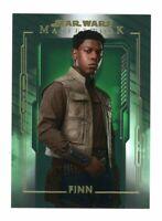 2020 Star Wars Masterwork Green Base Card #25 Finn /99