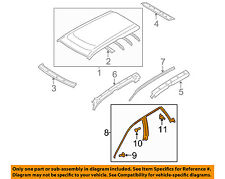 SUBARU OEM 05-09 Outback-Roof Weatherstrip Weather Strip Left 63521AG01A