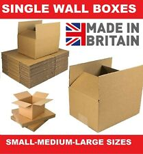 More details for cardboard boxes single wall cartons packing storage removals mailing post box