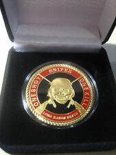 """U S ARMY SNIPER """"ONE SHOT*ONE KILL"""" Challenge Coin with Gift Box"""