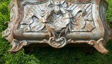 Antique Vintage French Cast Iron Jardiniere Planter