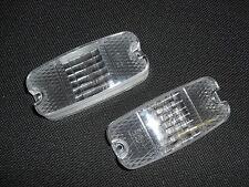 Glas für Blinker Blinkleuchte Trabant 601 Lichtscheibe weiß NEU 2x