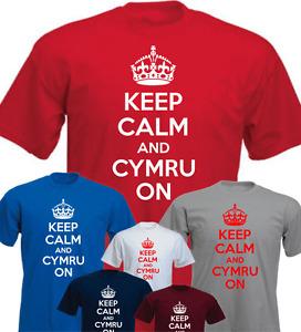 KEEP CALM AND CYMRU ON Wales Funny Gift T-shirt Present